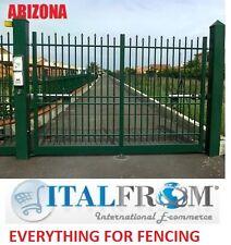 double portail clôtures en panneaux rambarde fer forgé galvanisé (Arizona)