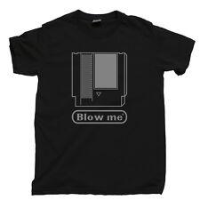 80s Video Game Cartridges T Shirt Blow Me Mario Contra Zelda Ninja Gaiden Tee