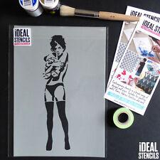 banksy fille étreindre Teddy Pochoirs Réutilisables peinture décor Maison Idéal