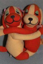 Little Huggies Orange Puppy Dogs Plush Toy Doll Set Dakin 1977