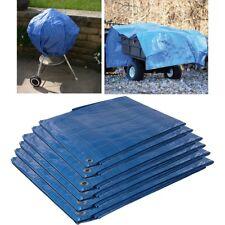 BLUE TARPAULIN Small-Large Waterproof Sheet Cover Ground Trailer Garden Tarp