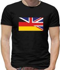 Medio Alemán Bretaña Bandera Camiseta Hombre - - Alemania - GB - Inglaterra