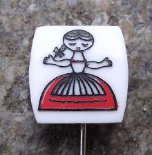 1960's Vecernicek Czech Cultural Icon Rumcajs Wife Manka Cartoon Pin