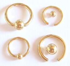 Klemmkugelring Piercing Ring BCR gold TITAN DEUTSCHE PIERCINGMANUFAKTUR Intim