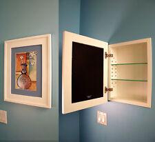 Nice Recessed Medicine Cabinet W/ Picture Frame Door, No Mirror, White Interior  13x16