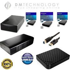 """HARD DISK ESTERNO 3,5"""" 1TB-2TB-3TB-4TB VERBATIM 3.0 HD PER PC TV CONSOLE"""