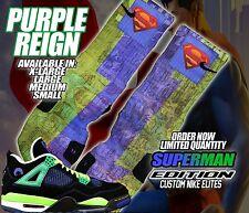 "NIKE AIR JORDAN RETRO IV 4 ""DOERNBECHER"" SUPERMAN Custom Nike Elite Socks"