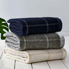 Gainsborough 350gsm Australian Wool Blend Check Blanket Queen/King Bed Size