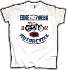 VINTAGE Biker T-Shirt Bike Week Old School MOTORCYCLE swap meet moto rocker