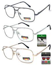Aviator Progressive Reading Glasses Metal Frame 3 Strengths in 1 Reader