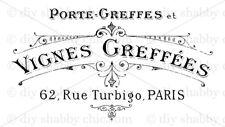 Meubles Décalque Transfert de l'Image Vintage Shabby Chic vin français Maker Signe Publicité Lumineuse
