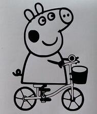 Sticker peppa pig sur un vélo