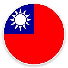 2 x 10cm Bandiera Taiwan Adesivo Vinile Decalcomania PORTATILE AUTO MOTO VIAGGIO BAGAGLI # 9099