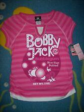 Bobby Jack Top Striped Plus Size Pink Bubblegum Monkey Original Blow Bubbles New