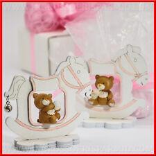 Bomboniere cavallo a dondolo orsetto per bimba nascita,battesimo,1° compleanno