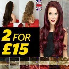 Half Wig OR 3/4 Wigs Extra Long Wavy Curly Half wig hairpiece black brown