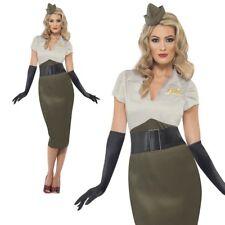 Segunda Guerra Mundial Ejército Pin Up Chica Disfraz 1940s Ejército Uniforme Militar Fantasía Vestido Nuevo