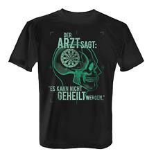 Arzt Dart spielen Herren T-Shirt Fun Shirt Spruch Motiv Darts Dartspieler Darten