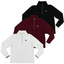 Victoria's Secret Pink Sweatshirt Quarter Zip Fleece Jacket Logo Top New Nwt Vs