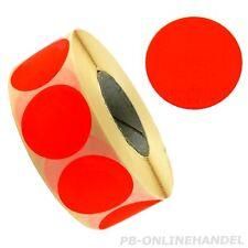 Aktions-Etiketten 32mm -stark klebend- signalrot unbedruck neutral leuchtrot rot