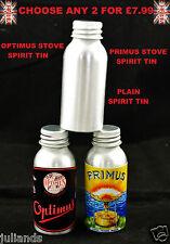 PRIMUS STOVE SPIRIT TIN BOTTLE OPTIMUS STOVE SPIRIT TIN METHYLATED SPIRIT TIN