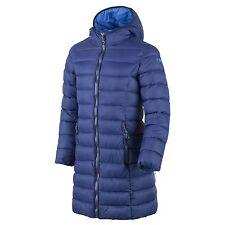 CMP abrigo chaqueta de entretiempo Guateada Blau Capucha Ligero Cálido Bolsos