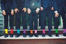 Calcetines De Boda Para Hombre Dos Tonos Mezcla N Partido De Algodón Calcetines de tobillo UK 5-12 X6TC001-11