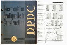 DOCUMENTATION PRATIQUE DE LA CONSTRUCTION. DPDC 1957 Architecture Bâtiment