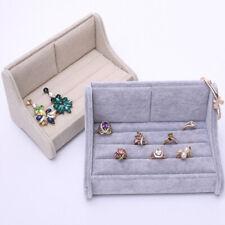 Sofá de visualización de joyería en forma de bandeja de mostrar Estuche Organizador Caja para Anillos pendientes
