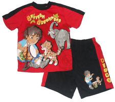 Size 5, 6 - Diego Boys Red Summer PJ Sleepwear Pyjamas
