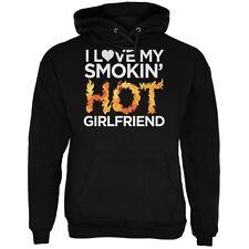 Valentine's Day I Love My Smokin Hot Girlfriend LGBT Black Adult Hoodie