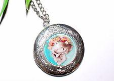 Medaillon Halskette +++ lovely skulls +++ viele Motive +++ Foto Anhänger +++