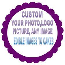 CUP CAKES CIRCLE  EDIBLE PHOTO CAKE IMAGE CUSTOM - ANY IMAGE (ENGLISH/SPANISH)