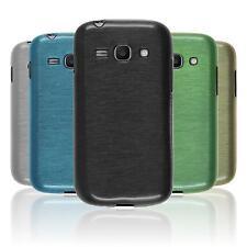 Silikon Hülle für Samsung Galaxy Ace 3  brushed + 2 Schutzfolien