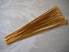 Großmenge 100-1000 Nietstifte 50 mm Kettelstifte Kopfstifte gold Pins Rabatt