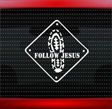 Follow Jesus Sign Christian Car Decal Truck Window Vinyl Sticker (20 COLORS!)