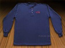 Case Xx Navy Blue Long Sleeve Medium T-Shirt Henley Cotton Jersey