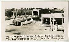 Harland Covered Bridge c1944 New Walkway Announcement Photograph