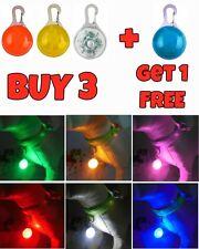 LED Pet Dog Cat Collar Nite Night Light Safety Clip Flashing Neon Pendant NEW