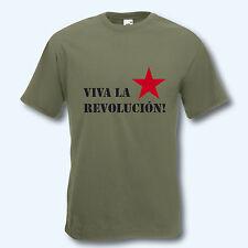T-shirt da uomo, Fun-Shirt, Viva la revolución, Cuba, culto, S-XXXL