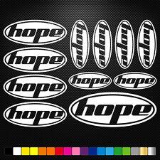 Hope 11 Stickers Autocollants Adhésifs - Vtt Velo Mountain Bike Dh Freeride