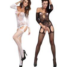 Livia Corsetti Fashion BodyStocking ADIVA Tuta a Rete Scollata Con Reggicalze