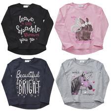 niña Estampada Top Camiseta Completo Con Mangas Linda Blusa Conejo unicornio