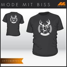 "Fun Shirt ""Alpen Club"" Hirschkopf für Bierzelt oder Oktoberfest"