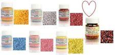Edible Sugar Sprinkles 50g Sugar Crystals Rainbow Dust Sugarcraft