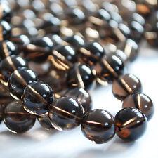 Grade A Natural Smoky Quartz (brown) Gemstone Round Beads  4mm 6mm 8mm 10mm