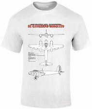 T-shirts fpbp 303 De Havilland Mosquito azul impresiones avión de combate WW11 aviones
