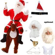 Kostüm Weihnachtsmann auf Rentier Huckepack Gr.M/L reitender Santa Claus