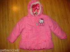 NEW* HELLO KITTY JACKET COAT PINK FUR $60 Girls 4 4T