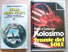 1974 LOTTO DI DUE VOLUMI SCRITTI DA CATERINA E PETER KOLOSIMO ROMANZO + SAGGIO